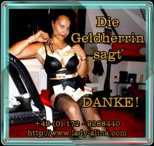 Geldherrin Slogan Domina Lady Alina - Specials